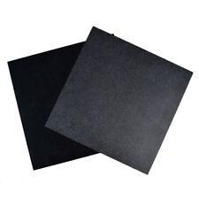 Black ABS Plastic Sheet Flexible Smooth Back High Quality 300 x 300 x 0.5 mm