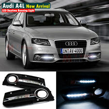 New LED Daytime Running Light For Audi A4 A4L B8 4D Sedan Fog DRL 2009 2010 2011