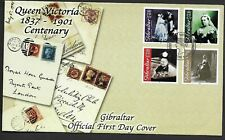 Gibraltar 2001 FDC Queen Victoria Death centenary fine used stamps