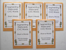 5 Teacher Made Literacy Centers Segmenting Flashcards Short Vowel CVC Words
