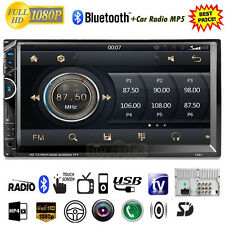 """7"""" HD Touch Screen Double 2DIN Car Stereo MP5 MP3 Player Bluetooth Radio FM USB"""