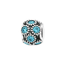Authentic Pandora Charm Teal Studded Lights Charm With TAG & Pouch 791296MCZ