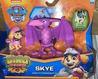 Paw Patrol Skye and Pteradactyl Dino Rescue Adventures Dinosaur Pink Girls RARE