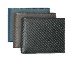 Carbon Fiber Wallet  RFID BIFOLD LEATHER SLIM TEN CARD SLOTS PLUS ID