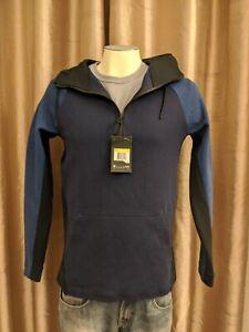 NWT Nike Tech Fleece Half Zip Hoody Men's Sz S Obsidian Heather Black 884892-451