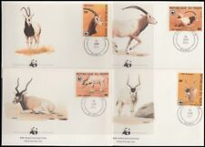 NIGER 1985 WWF ADDAX & ORYX SET ON FDC's (x4) (ID:563/D17869)