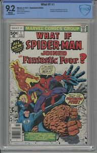 WHAT IF? 1 CBCS / CGC 1977 WHITE DISNEY + SPIDER-MAN JOINS FANTASTIC FOUR