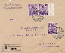 Lettre Recommandée Schaan to Schaan Local, BDF Chaux de Fond Cover Liechtenstein