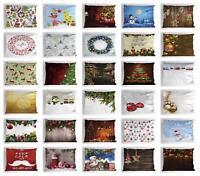 Festive Christmas Pillow Sham Decorative Pillowcase 3 Sizes for Bedroom Decor