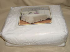 Republic Ruched Stripe Duvet Twin Size Ivory 100% Cotton Spread  - NEW IN BAG