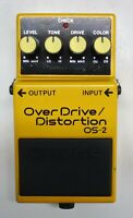 BOSS OS-2 Over Drive Distortion Guitar Effects Pedal #24 with Box Free Shipping