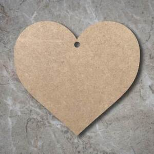 Large MDF Heart Craft Wooden Shape Blank Wood 10 20 30 40cm Unpainted