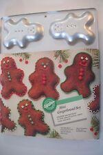 """1990 Wilton mini gingerbread boys cakes pan makes 6 boys 5""""x3 3/4"""""""
