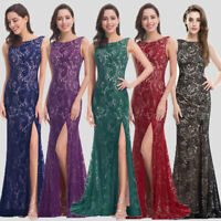 Ever-Pretty US Long Bridesmaid Dress Mermaid Side Slit Evening Prom Gown 08859