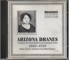 ARIZONA DRANES -Complete Recorded Works (1926-1929)- RARE 22 track Document CD