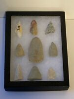 Vintage Arrowhead Collection; Native American Indian; Qty 9; Lot # 1