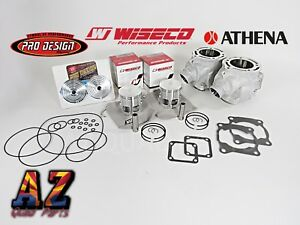 Banshee Athena 421cc 68 Big Bore +4mm STROKER Cylinders WISECO Pistons Pro Domes