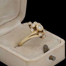 Antique Vintage Deco Mid Century 14k Yellow Gold Diamond Wedding Ring Sz 7.25