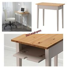 IKEA NORRÅSEN Norrasen Laptop table, Natural / Gray SOLID WOOD / 002.606.77