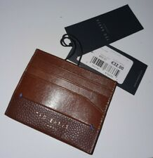 New Official TED BAKER LONDON Brown Leather Money Card Wallet Holder *RRP £50!*
