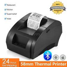 Tragbar Mini Thermodrucker für Smartphone Handy Fotodrucker Rechnung Etikett DE