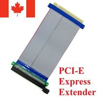 PCI-Express PCI-E 16X Slot Riser Card Flexible Ribbon Extender Extension Cable