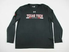 Texas Tech Red Raiders Under Armour Long Sleeve Shirt Men's Black Poly Used XL
