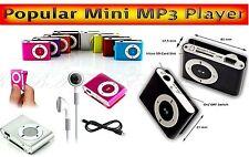 Flache Media Player Designer Mini Clip MP3 Player bis 8GB Mikro SD Slot Pink L1