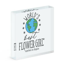 World's Best Flower Girl Acrylic Photo Block Frame Favourite Wedding Favour