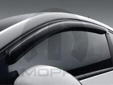 12-17 Fiat 500 Side Window Air Deflector Tinted Set of 2 Factory Mopar New Oem