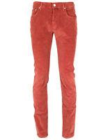 Jacob Cohen Pantalon en Velours Côtelé PW688 Confort en Rouge