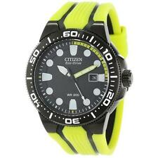 "Citizen Men's BN0095-16E Eco-Drive ""Scuba Fin"" Yellow and Black Dive Watch"