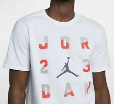 Nike Air Jordan 23 Sportswear Men T-Shirt Tee Top White Cotton 916052 -100 - 2Xl