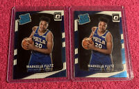 2 Card Lot-MARKELLE FULTZ 2017/18 DONRUSS OPTIC #200 RATED ROOKIE (BASE RC)