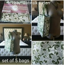 New Scentsy Consultant Non-Wovens 5 Green White Star Tote Reuseable Grocery Bags