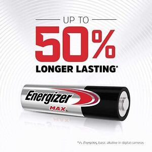 40X 20X 10X Energizer Max AA AAA Alkaline Battery Batteries Power Free Postage