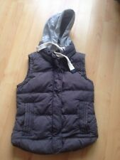Ladies Superdry Blue University Gilet Detachable Hood Sz Medium