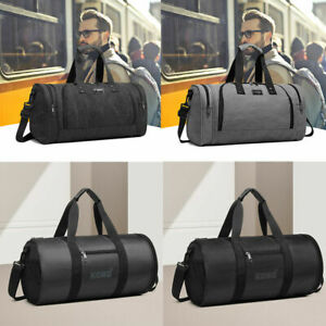 Polyester Sport Gym Tote Handbag Overnight Travel Holdall Duffle Shoulder Bag