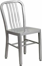 Flash Furniture Commercial Grade Silver Indoor-Outdoor Chair New
