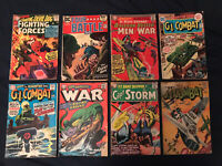 DC SILVER & BRONZE AGE WAR Lot of 8 comics: GI Combat, Our Fighting Forces...