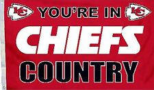 Kansas City Chiefs Huge 3'x5' NFL Licensed Country Flag / Banner - Free Shipping