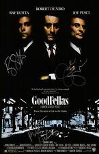 Robert De Niro Joe Pesci & Ray Liotta Signed GoodFellas 11x17 Movie Poster COA
