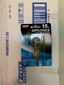 FEIT Electric 15w Appliance Bulb 120V Incandescent BP15T7DC (Box Of 12 Packs)New