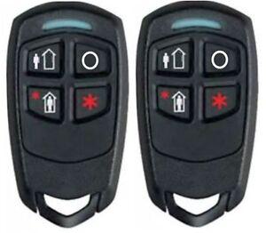 2 Honeywell Ademco 5834-4 Four-Button Wireless Key Remotes
