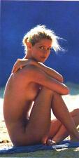 Serviette de plage Drap de bain Femme nue sur le sable beach towel coton