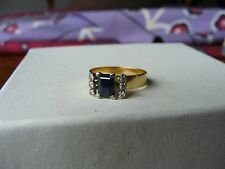 Sapphire, Diamond 18ct Gold Ring Stunning and Unique