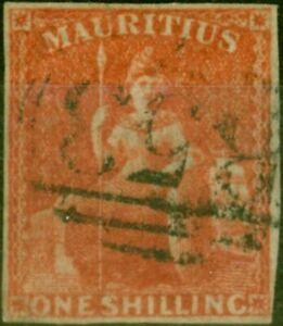 Mauritius 1859 1s Vermilion SG34 Fine Used