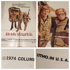 1974 Original Movie Theatre Poster OPEN SEASON 27X41 70's Fonda Sharpe Law Real