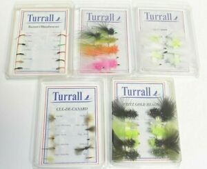 TURRALL FISHING FLIES CUL-DE-CANARD,KILLERS,BLOODWORMS,FRITZ,WHISKERS - CHOOSE