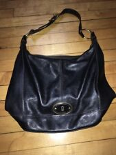 Fossil Maddox Pebbled Leather Bucket Hobo Shoulder Bag